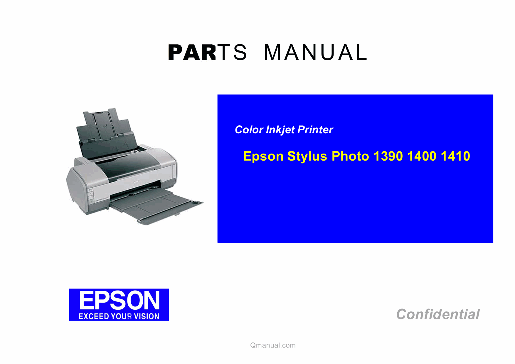 Epson stylusphoto 1390 1400 1410 parts manual.